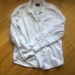 J. Crew White Button Down Boy Shirt Size 12